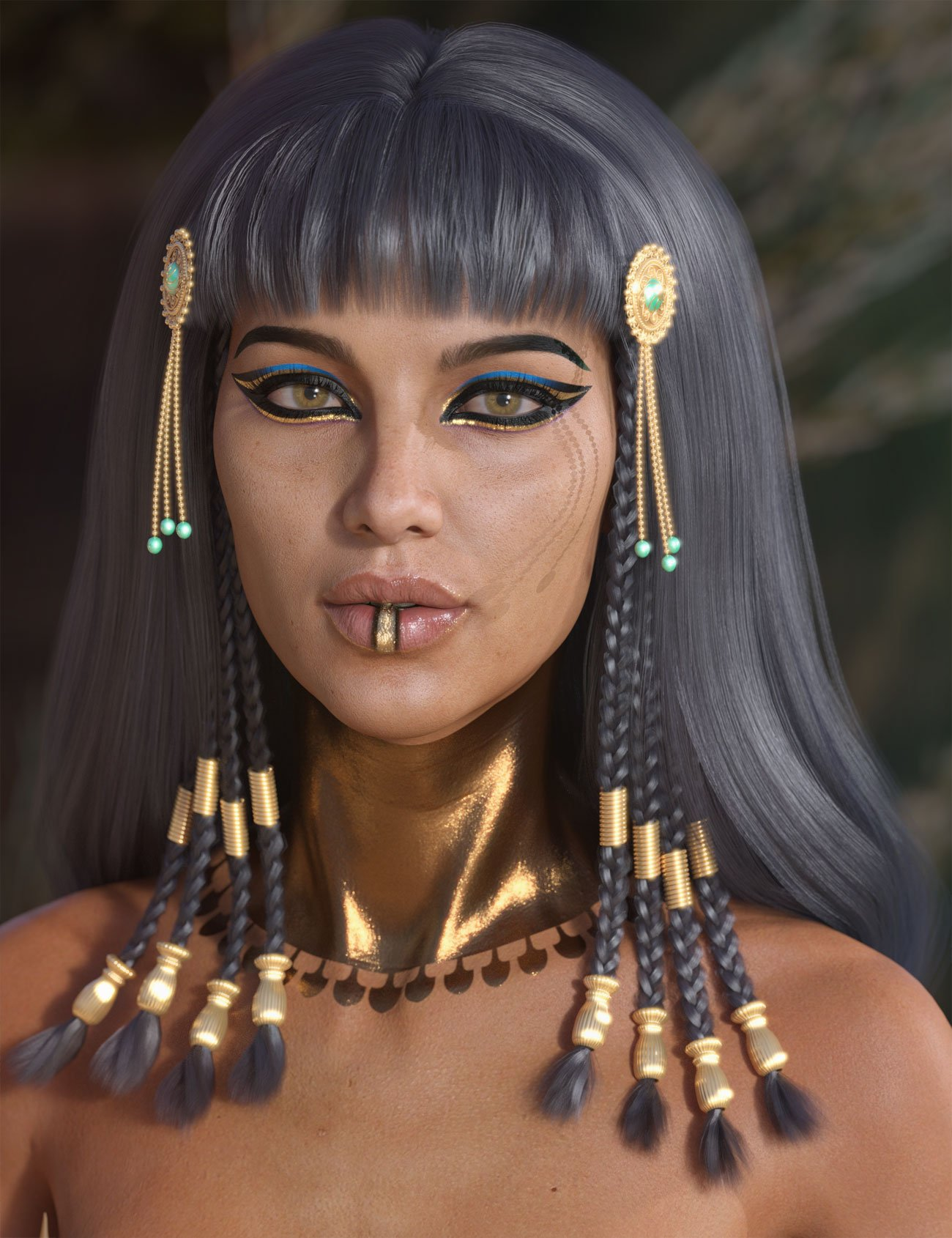 Cleo Hair for Genesis 3 and 8 Female(s) by: AprilYSH, 3D Models by Daz 3D