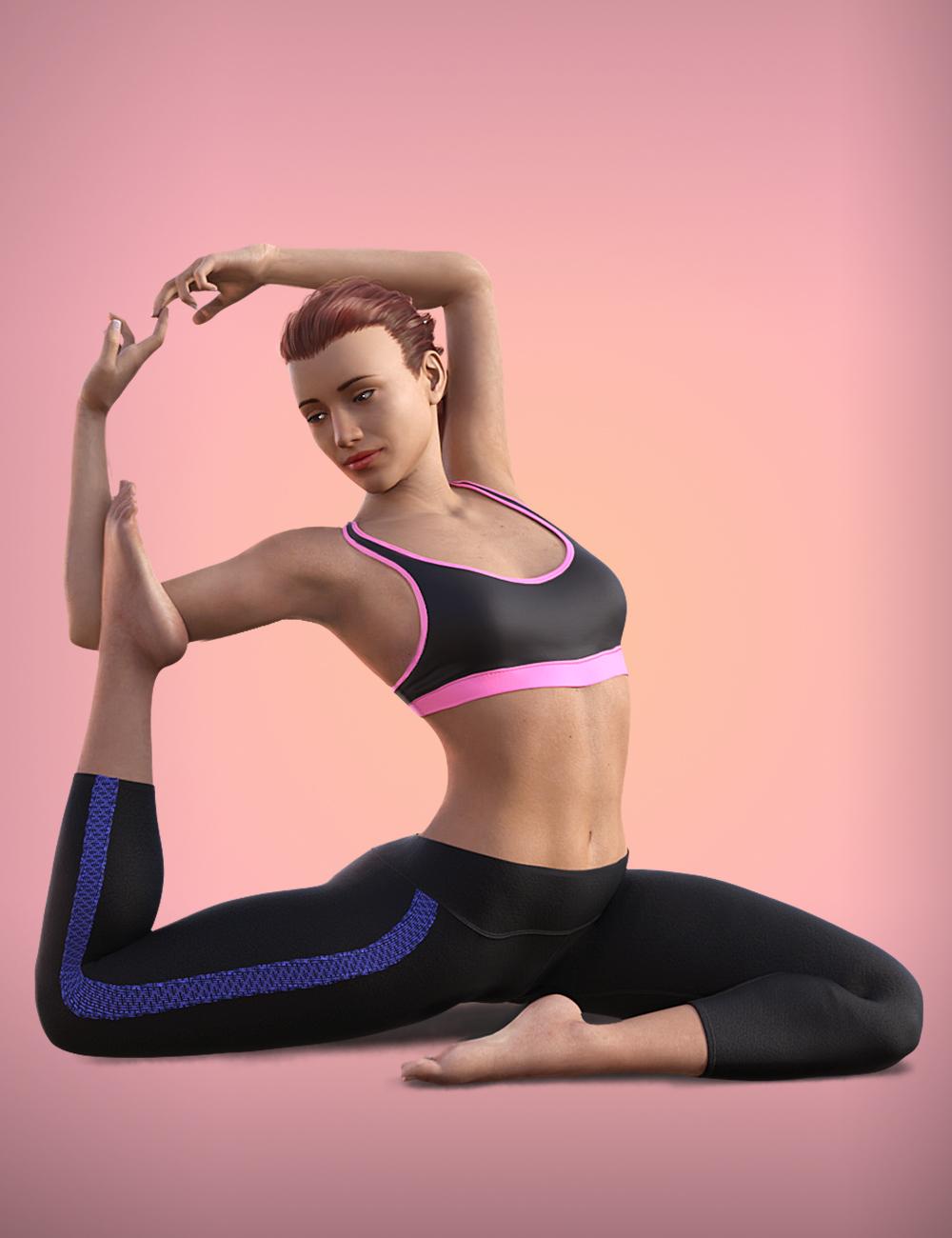 Yoga Animations for Genesis 8 by: ThreeDigital, 3D Models by Daz 3D