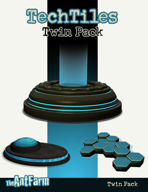 TechTile Twin Pack by: The AntFarm, 3D Models by Daz 3D