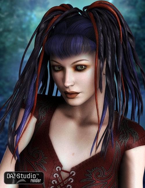Kleo Dread Falls by: AprilYSH, 3D Models by Daz 3D