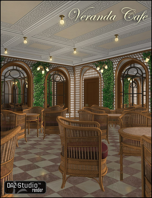 Veranda Cafe by: , 3D Models by Daz 3D