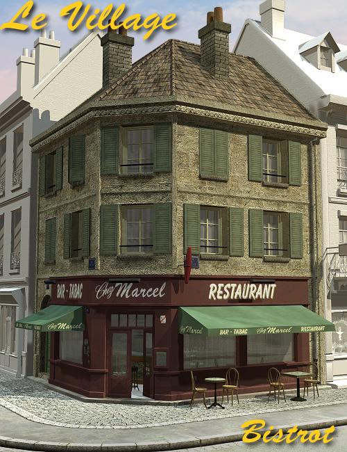 Le Village Bistrot by: Faveral, 3D Models by Daz 3D