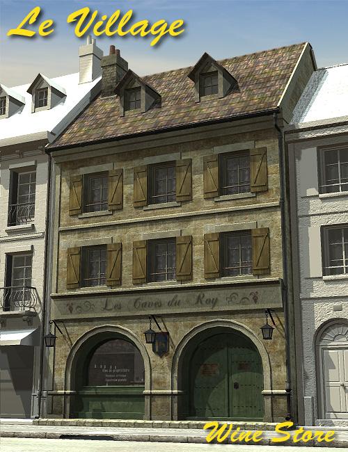 Le Village   Wine Store by: Faveral, 3D Models by Daz 3D