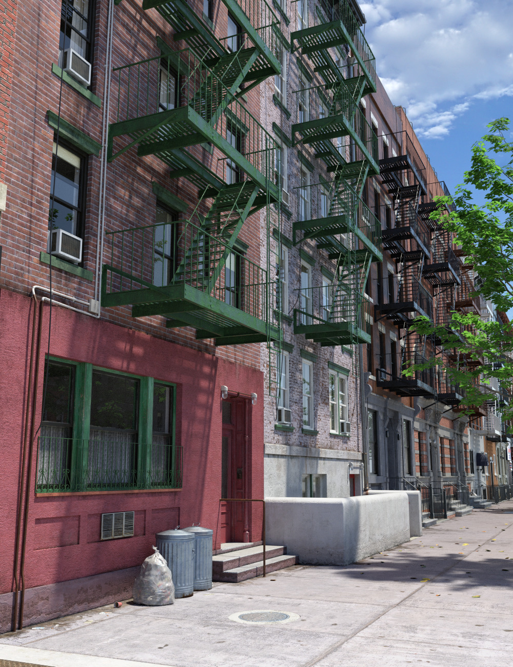 New York Tenements by: Aurelio, 3D Models by Daz 3D