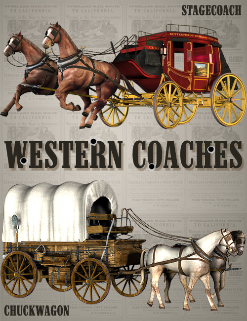 Western Coaches by: FaveralDigital Lite Design, 3D Models by Daz 3D