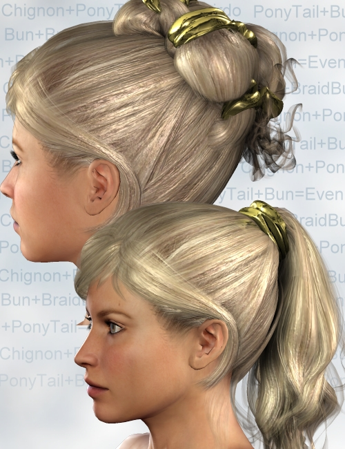 Addition HairStyles by: Neftis3D, 3D Models by Daz 3D