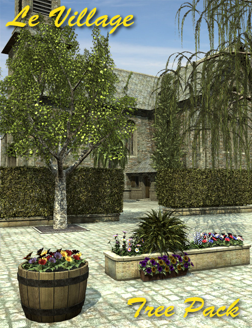 Le Village  Tree Pack by: Faveral, 3D Models by Daz 3D