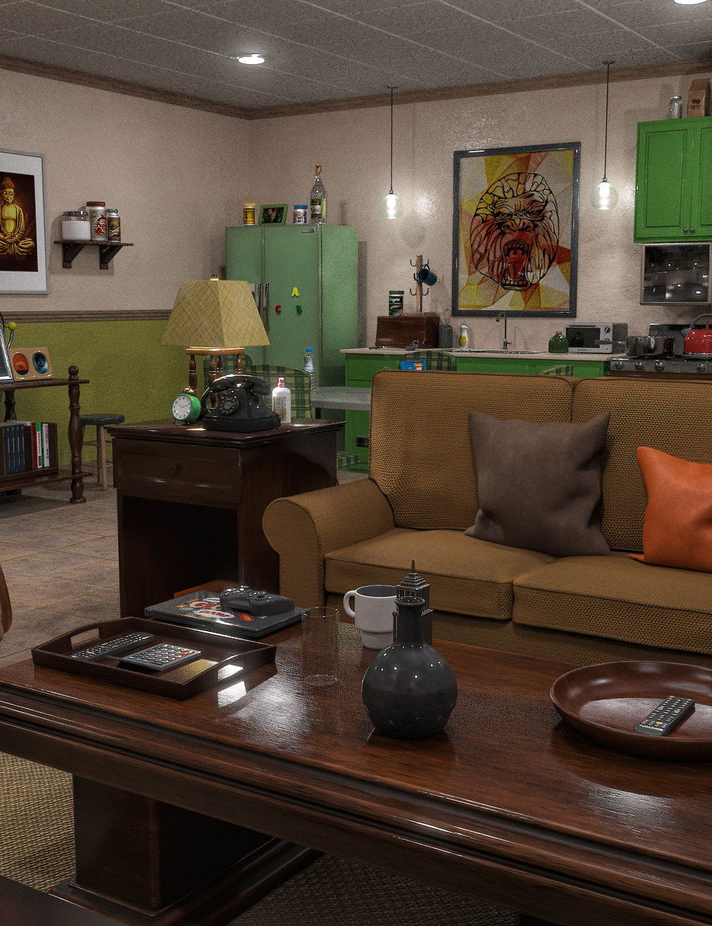 Messy Apartment Prop Add-On by: Fugazi1968Ironman, 3D Models by Daz 3D