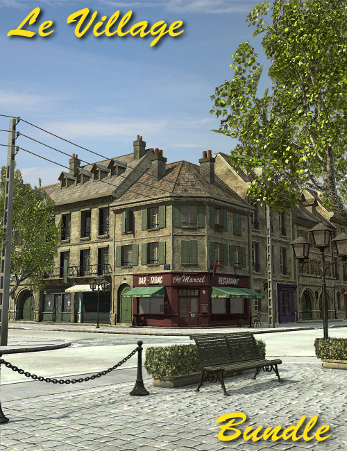 Le Village - Bundle by: Faveral, 3D Models by Daz 3D