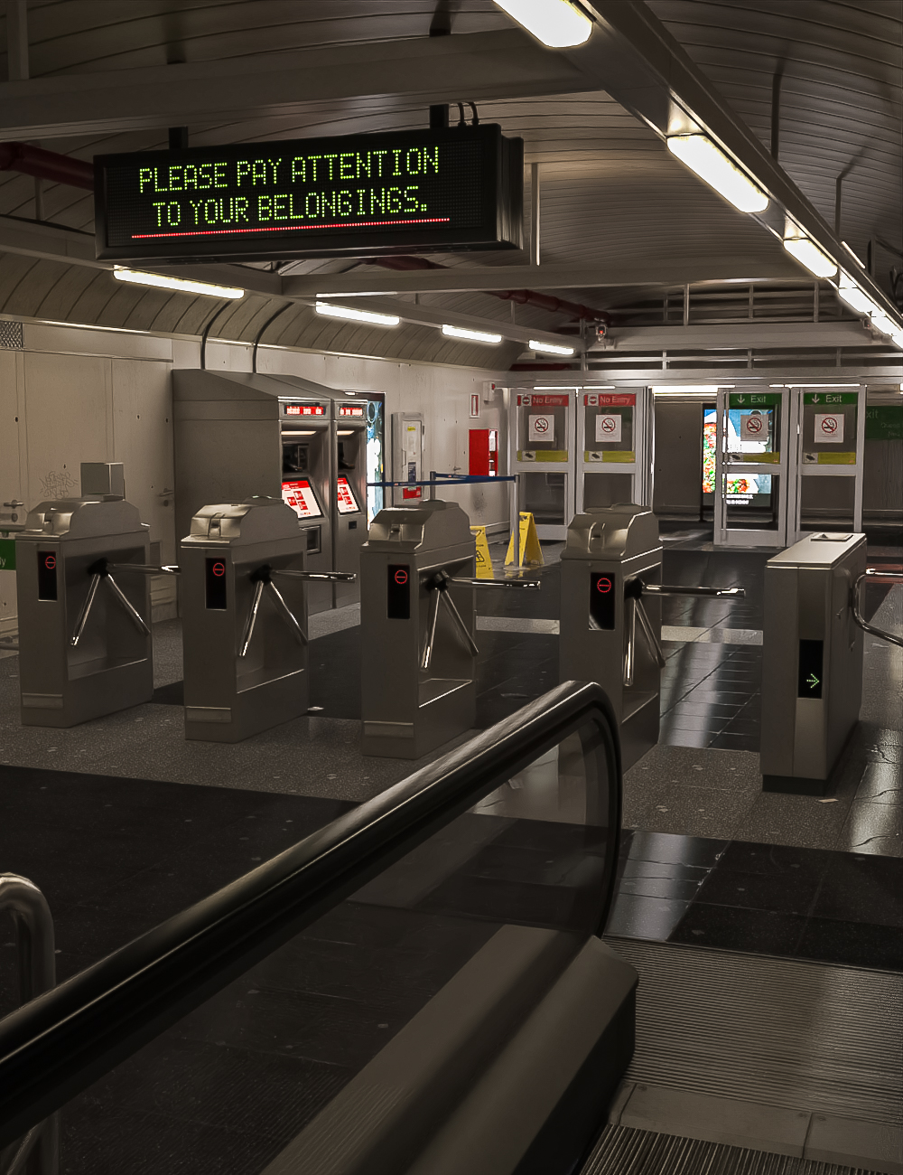 Subway Terminal by: Dekogon Studios, 3D Models by Daz 3D