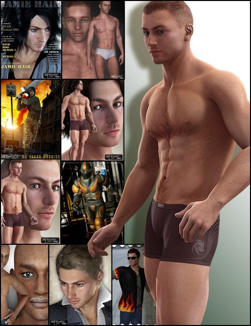 Michael 4 Pro Bundle by: , 3D Models by Daz 3D