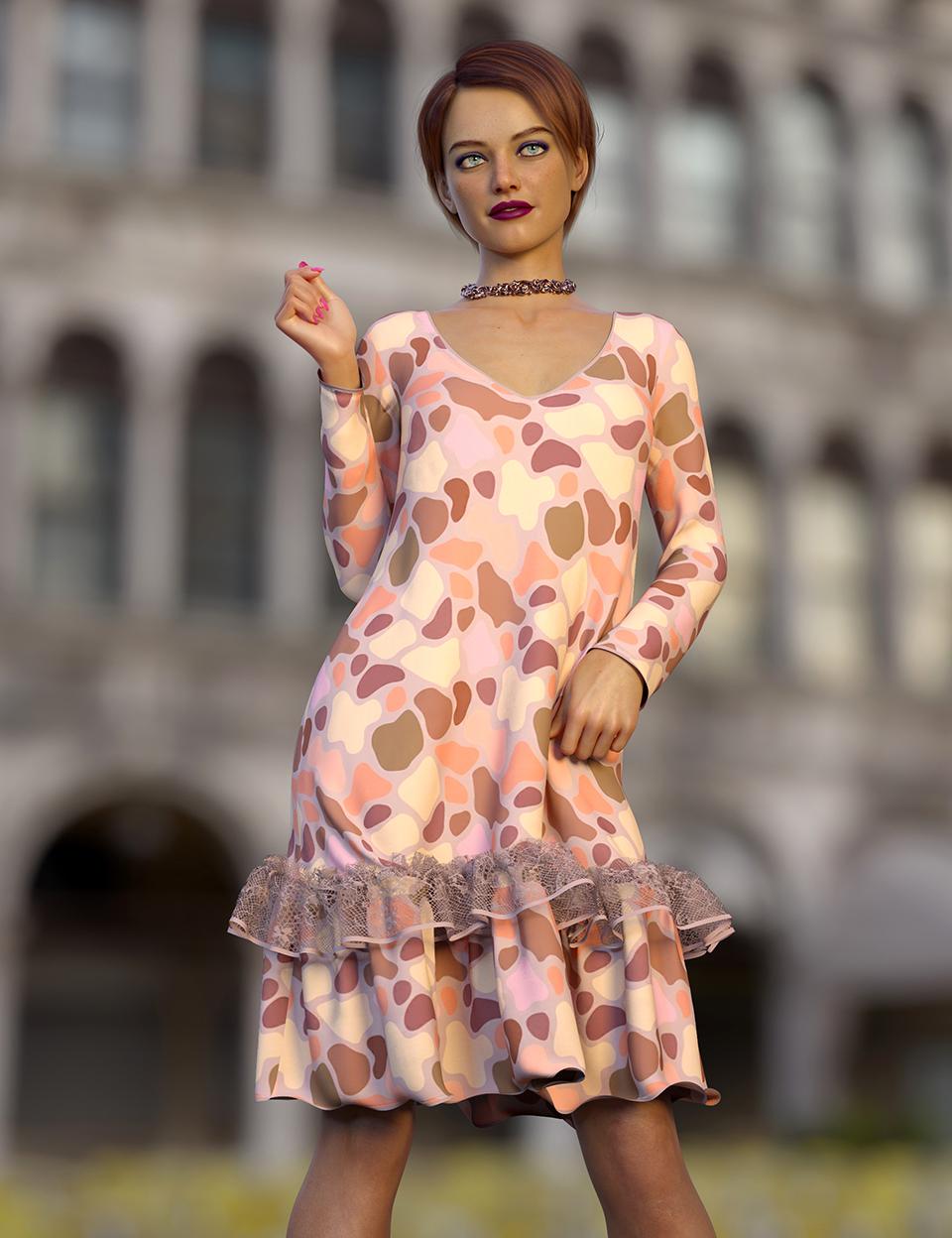 dForce Cindy Outfit for Genesis 8 Females by: Nelmi, 3D Models by Daz 3D