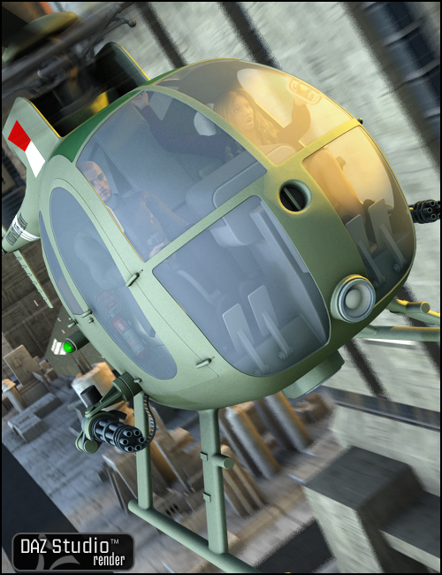 OH6A Helicopter by: , 3D Models by Daz 3D