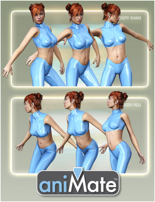 aniMate Dance Club Moves 1 by: GoFigure, 3D Models by Daz 3D