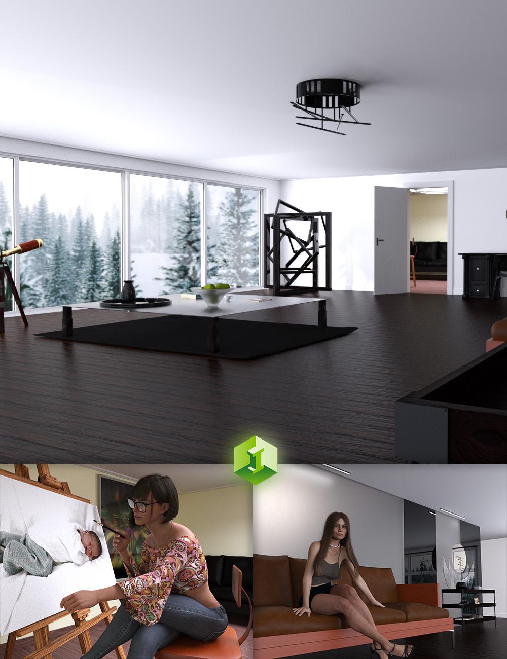 Artist Hideout by: JDA HDRI, 3D Models by Daz 3D