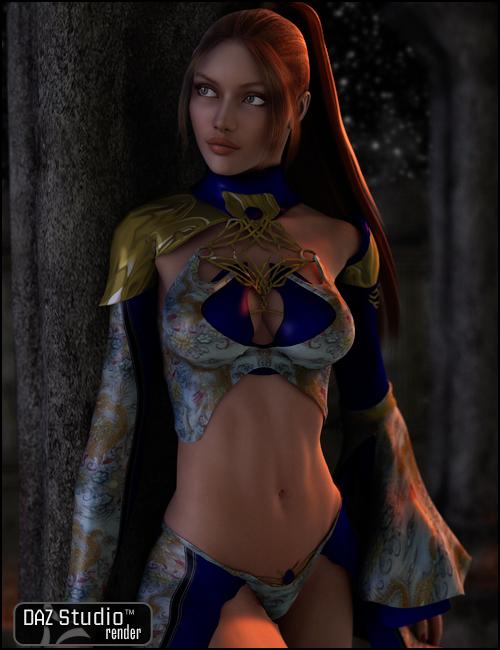 Eweyai for V4 by: Barbara Brundon, 3D Models by Daz 3D