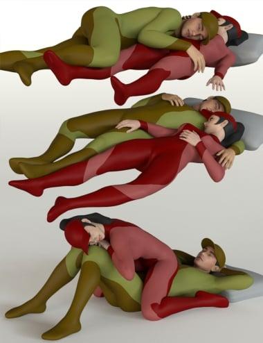 Sleeping Pose Pairs for Genesis 8