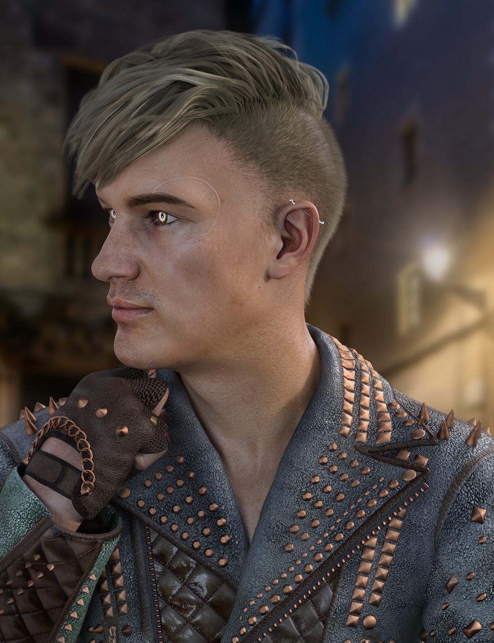 Amato Hair for Genesis 8 Males by: Propschick, 3D Models by Daz 3D