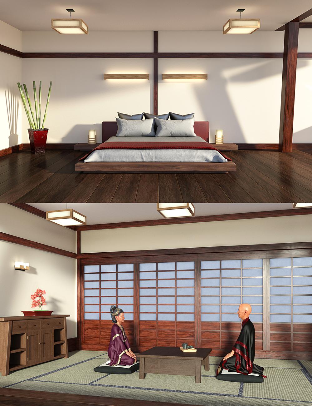 DD Japanese Bedroom by: Digital Delirium, 3D Models by Daz 3D