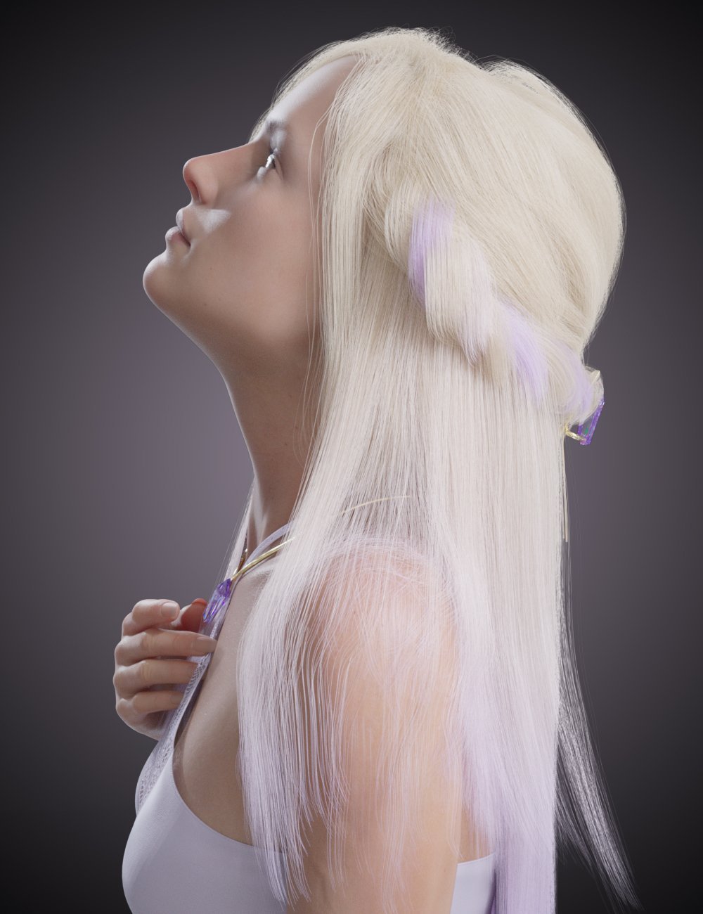 dforce Arcane Enchantress Hair for Genesis 3 and 8 Female by: chevybabe25, 3D Models by Daz 3D