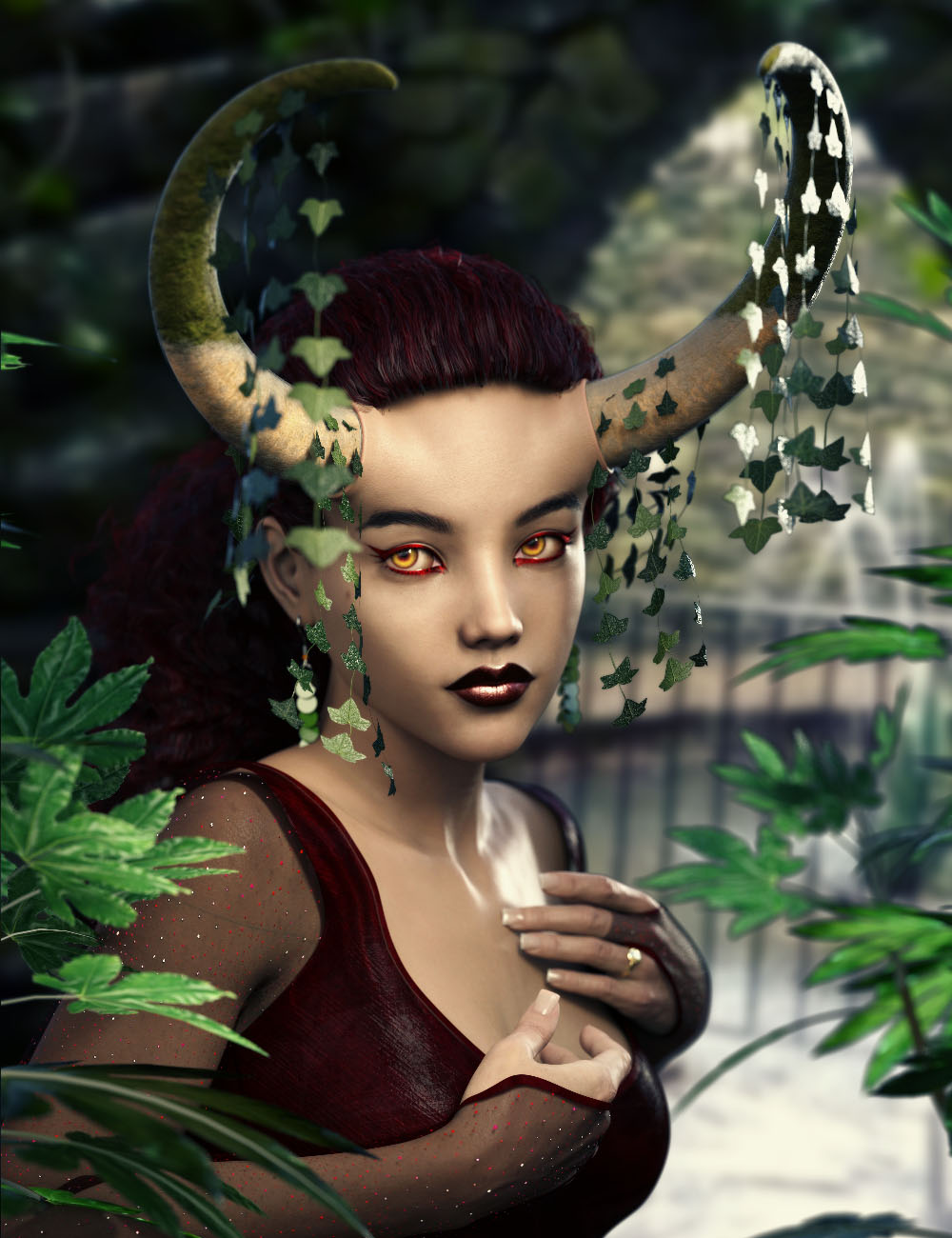 Hecate Expansion for Arcane Enchantress Horns by: ForbiddenWhispers3anson, 3D Models by Daz 3D