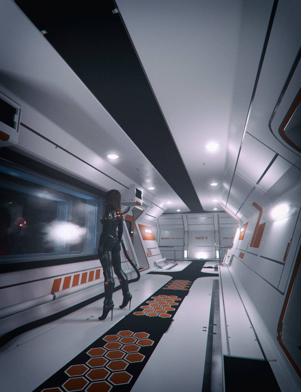 Modular Sci-fi Interior Kit by: Mely3D, 3D Models by Daz 3D