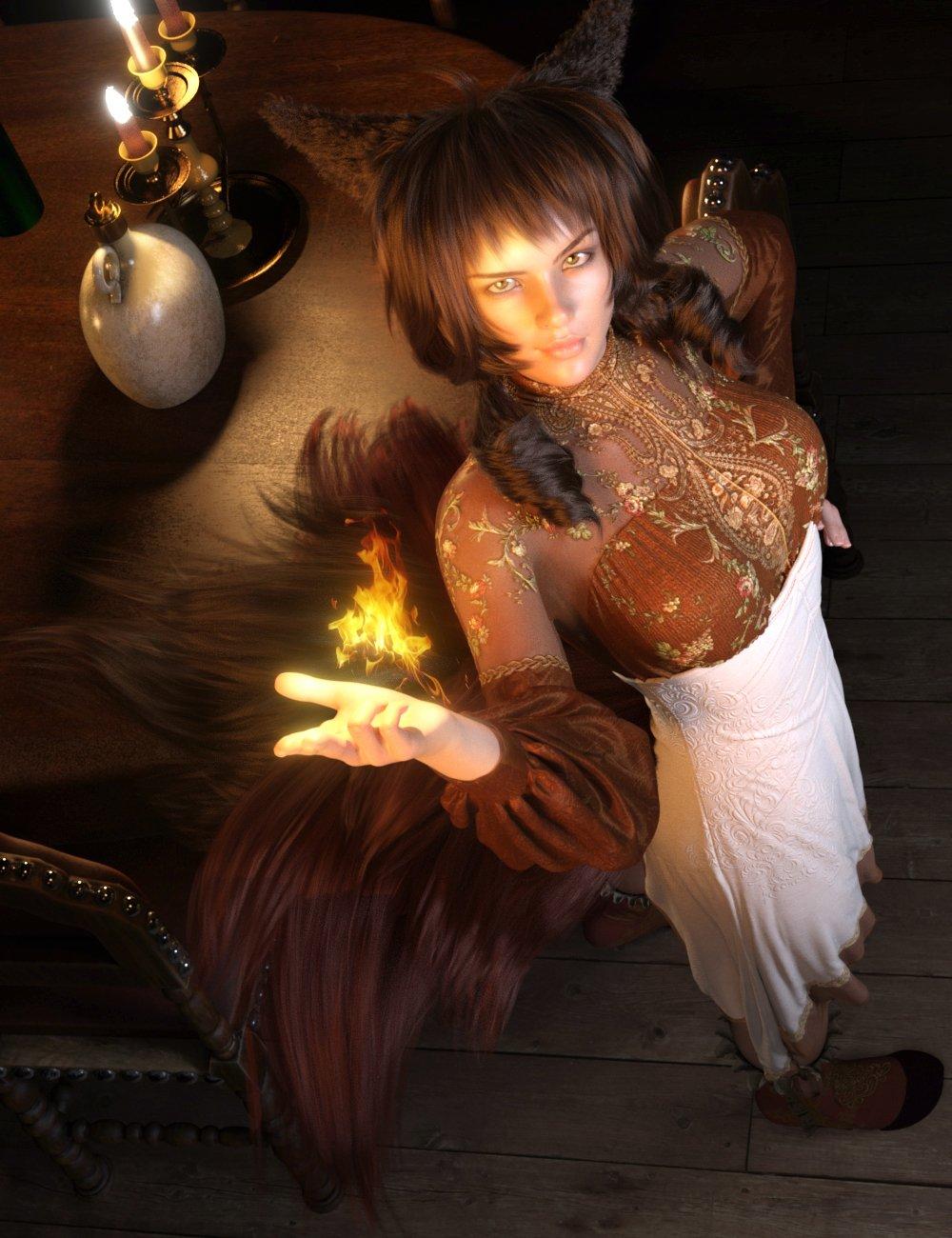 FE Fantasy Hair Vol 1 for Genesis 8 Females by: FeSoul, 3D Models by Daz 3D