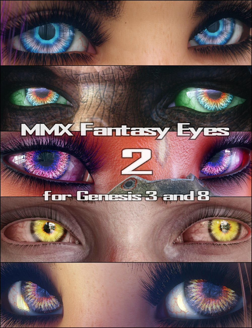 MMX Fantasy Eyes 2 for Genesis 3 and 8 by: Mattymanx, 3D Models by Daz 3D