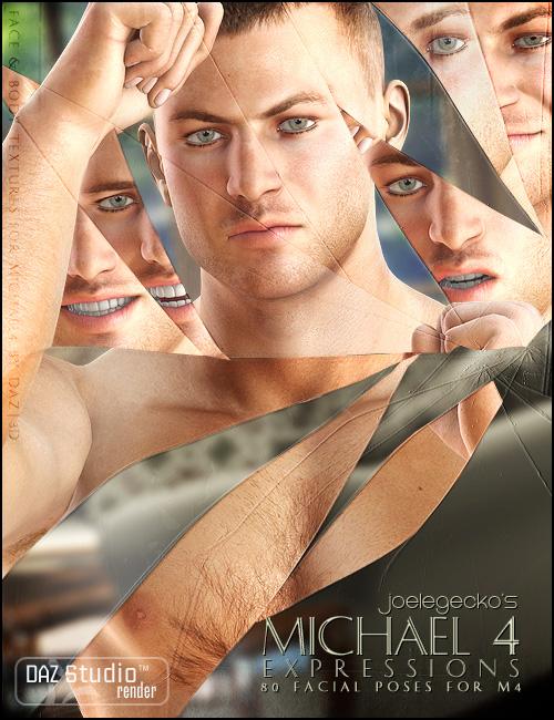 Michael 4 Expressions by: joelegecko, 3D Models by Daz 3D