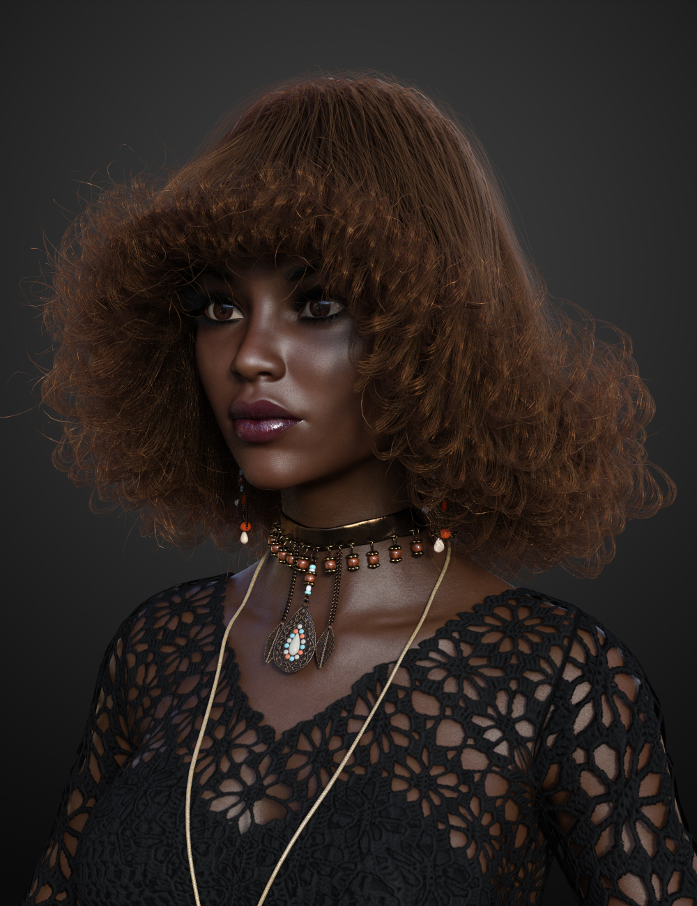 Stack Perm Hair for Genesis 3 and 8 Females by: Soto, 3D Models by Daz 3D