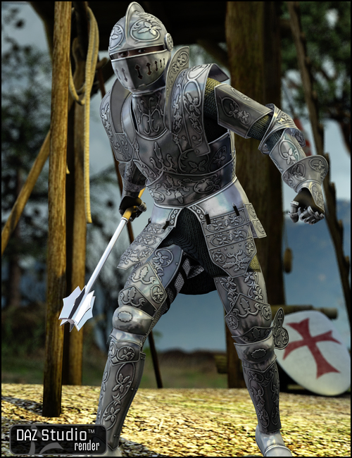 Knight Champion for M4 by: ValandarCaligreal, 3D Models by Daz 3D