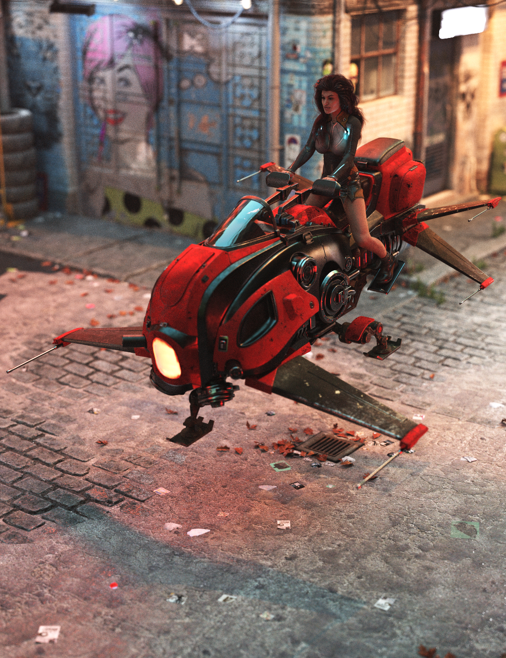 Futuristic Hover Bike by: Charlie, 3D Models by Daz 3D
