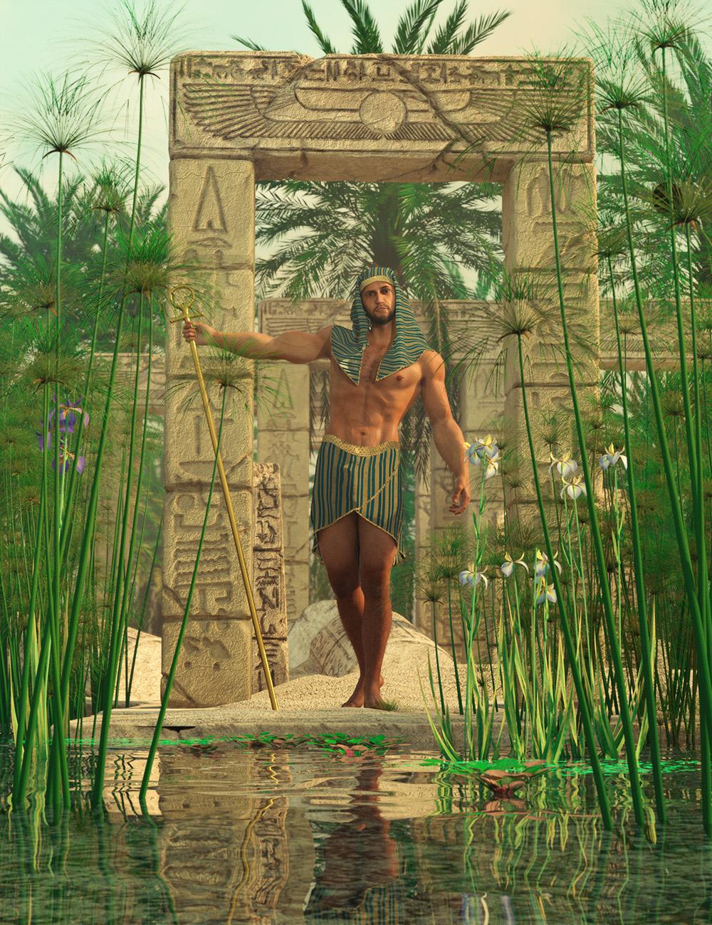 Nile Papyrus Plants by: MartinJFrost, 3D Models by Daz 3D