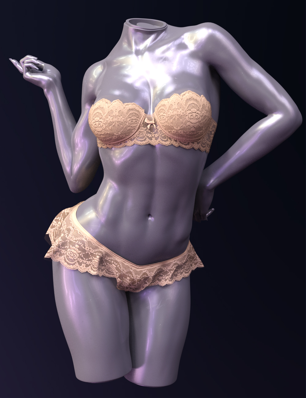 X-Fashion Sheer Lace Lingerie Genesis 8 Female by: xtrart-3d, 3D Models by Daz 3D