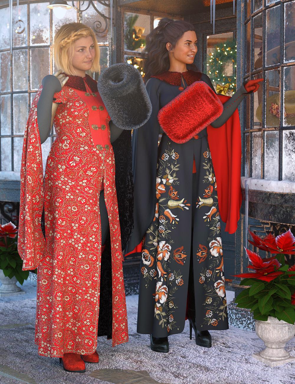dForce Winter Splendor Outfit Textures by: Moonscape GraphicsSade, 3D Models by Daz 3D