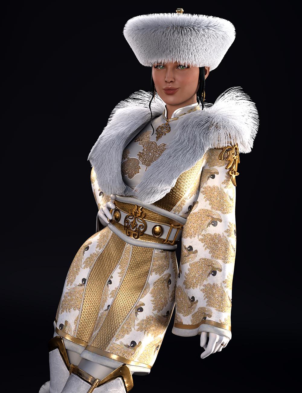 dForce Sujin Imperial Fantasy Outfit for Genesis 8 Females by: Val3dart3D Sugar, 3D Models by Daz 3D