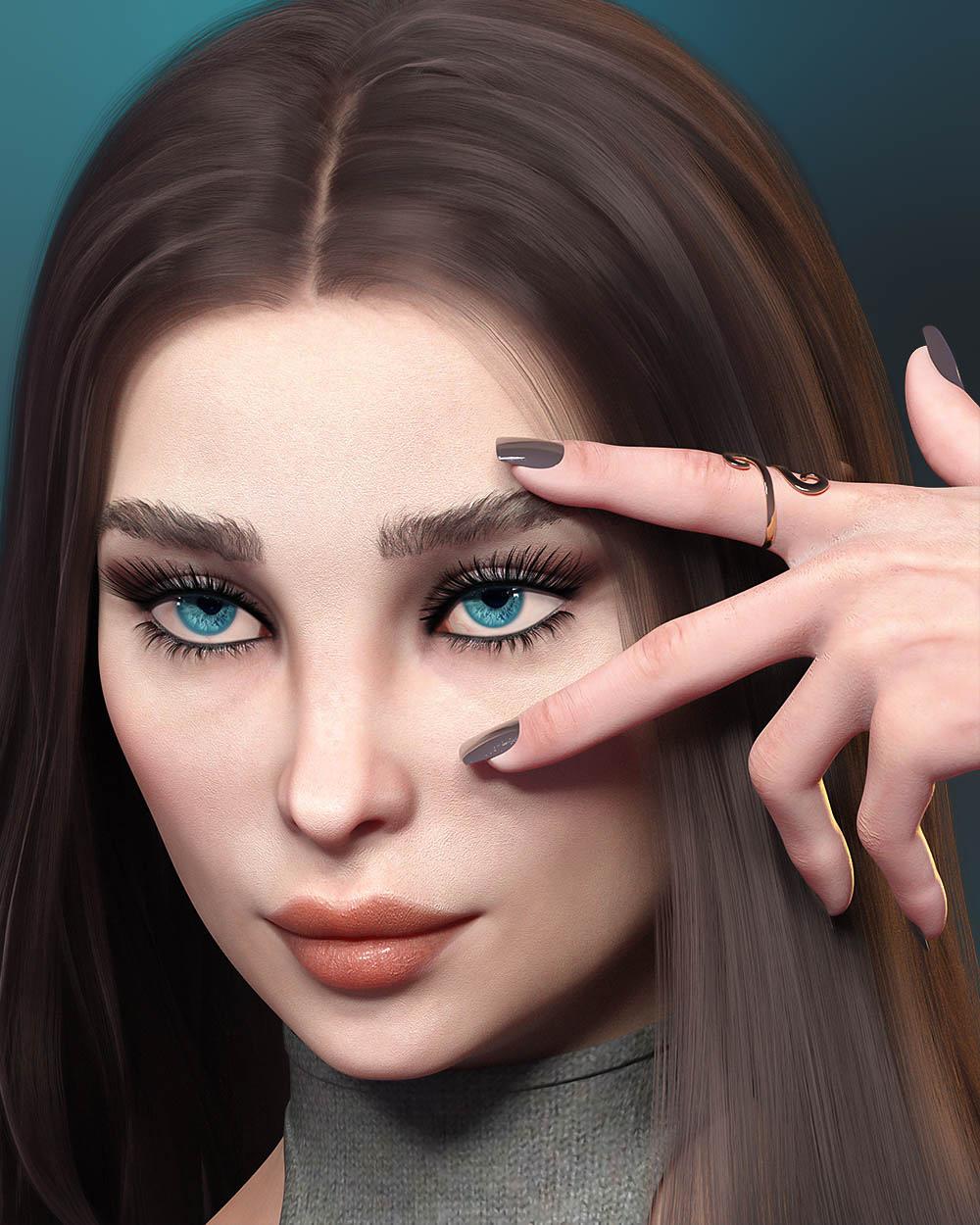 TM Everyday Lashes MR for Genesis 8.1 Female by: TwiztedMetal, 3D Models by Daz 3D