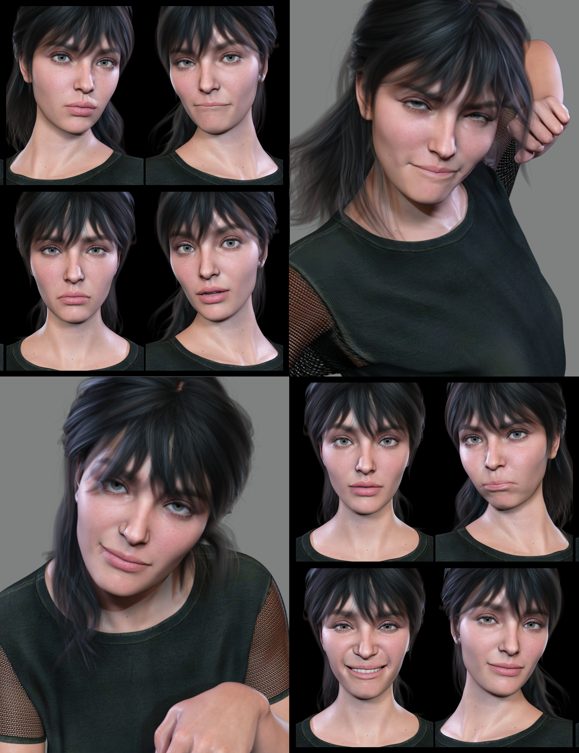 The Expression Collection for Victoria 8.1 by: Quixotry, 3D Models by Daz 3D