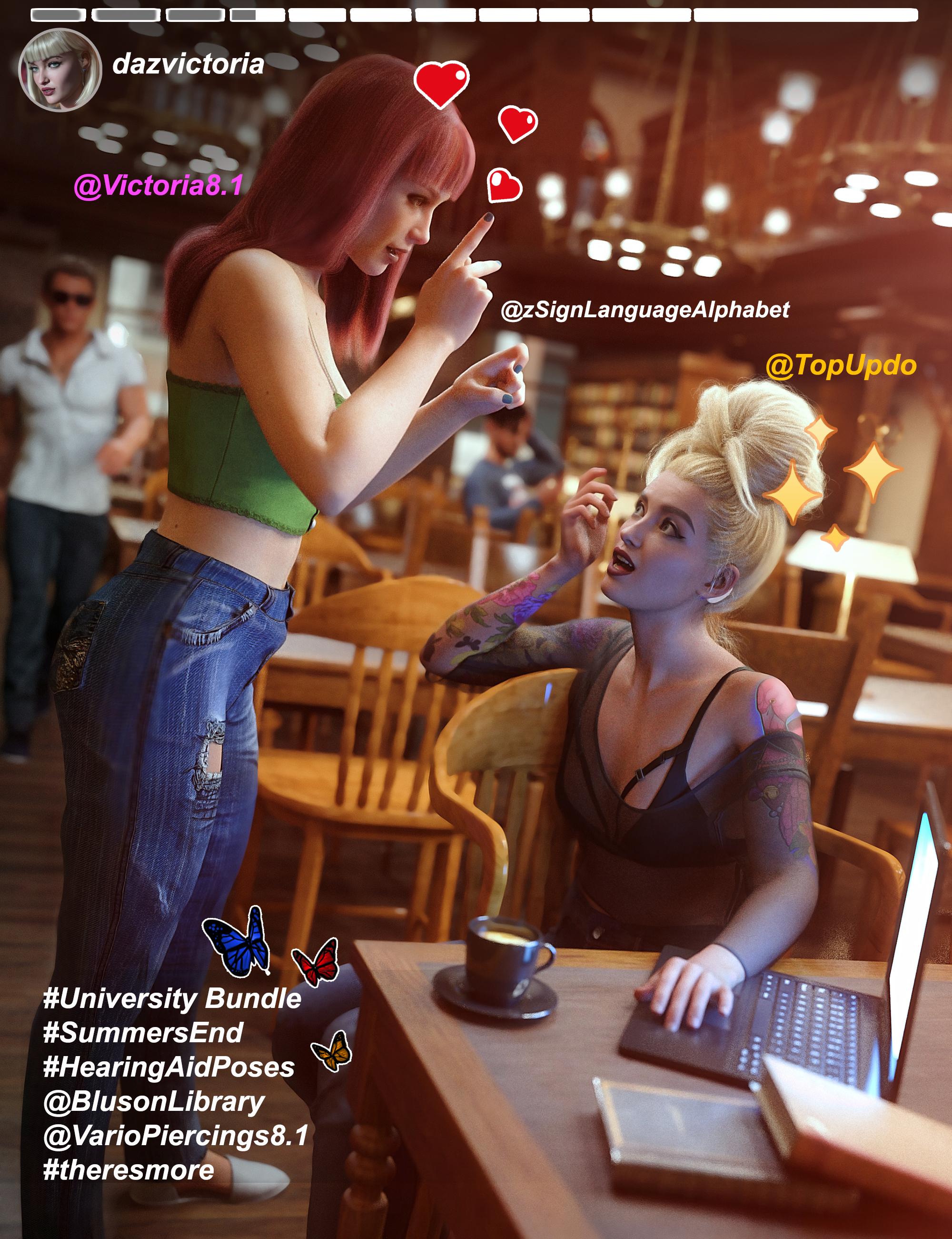 Victoria 8.1 University Bundle by: , 3D Models by Daz 3D