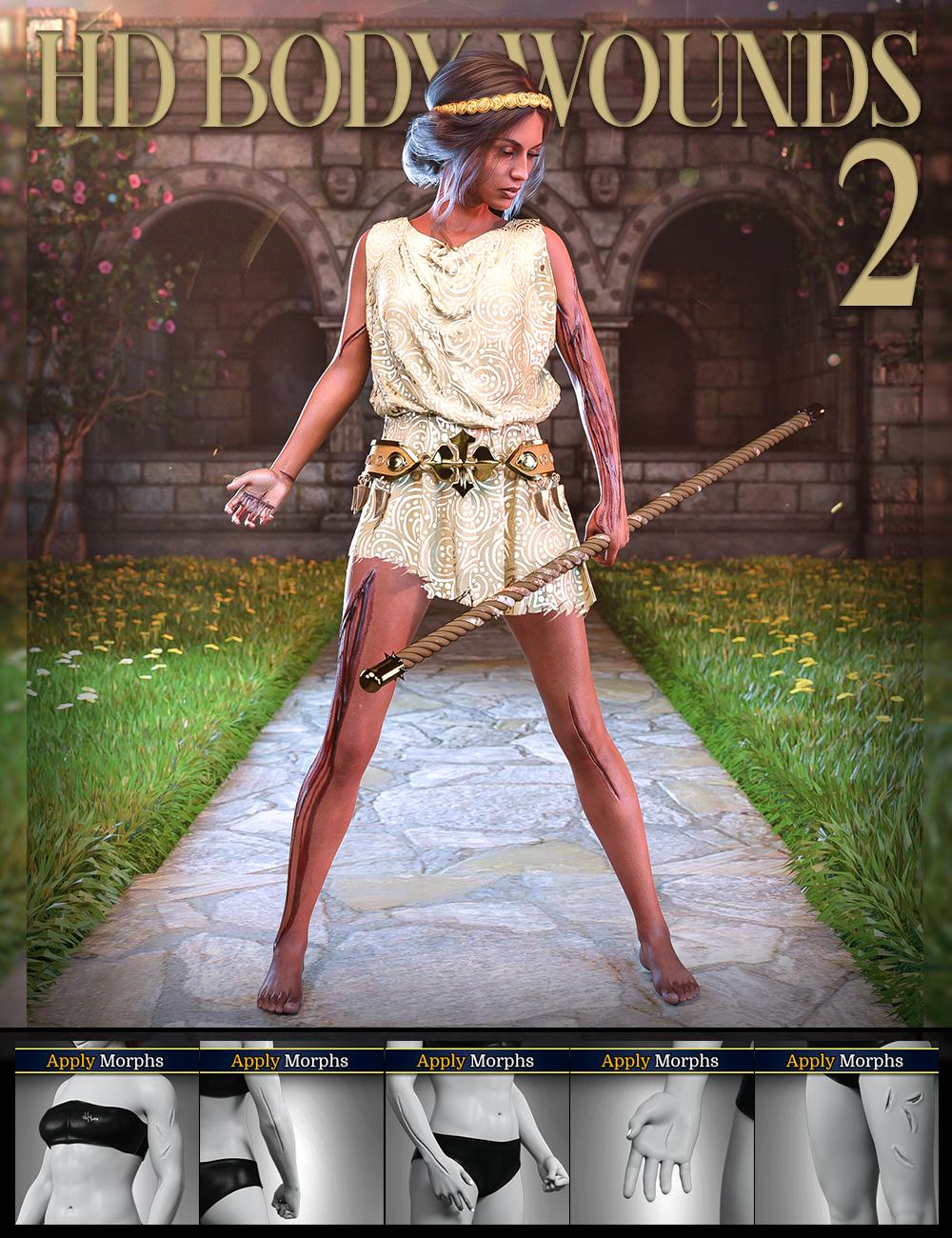 Body Wounds HD Morphs 2 for Genesis 8 Females by: FenixPhoenixEsid, 3D Models by Daz 3D