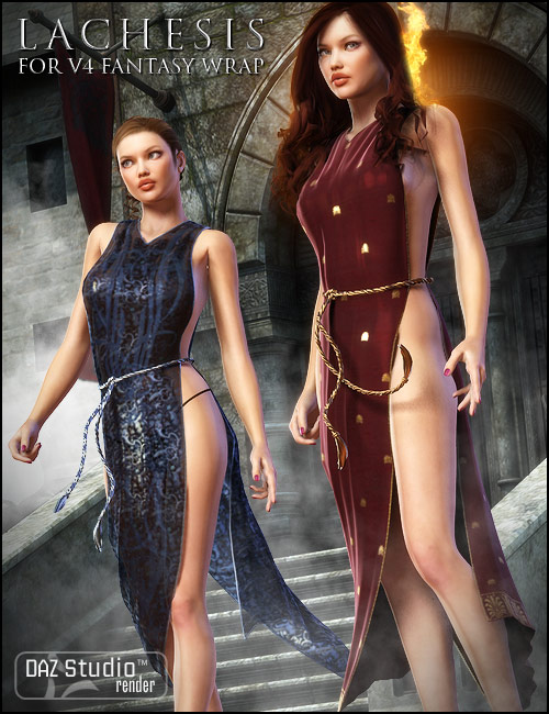 Lachesis Textures for the V4 Fantasy Wrap by: Arien, 3D Models by Daz 3D