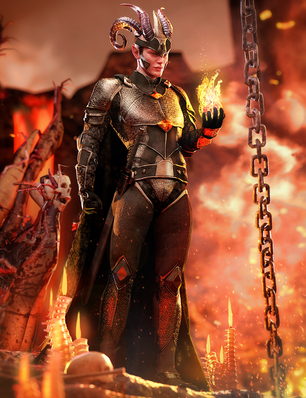 dForce Rage Armor for Genesis 8.1 Males by: Barbara BrundonUmblefuglyArien, 3D Models by Daz 3D