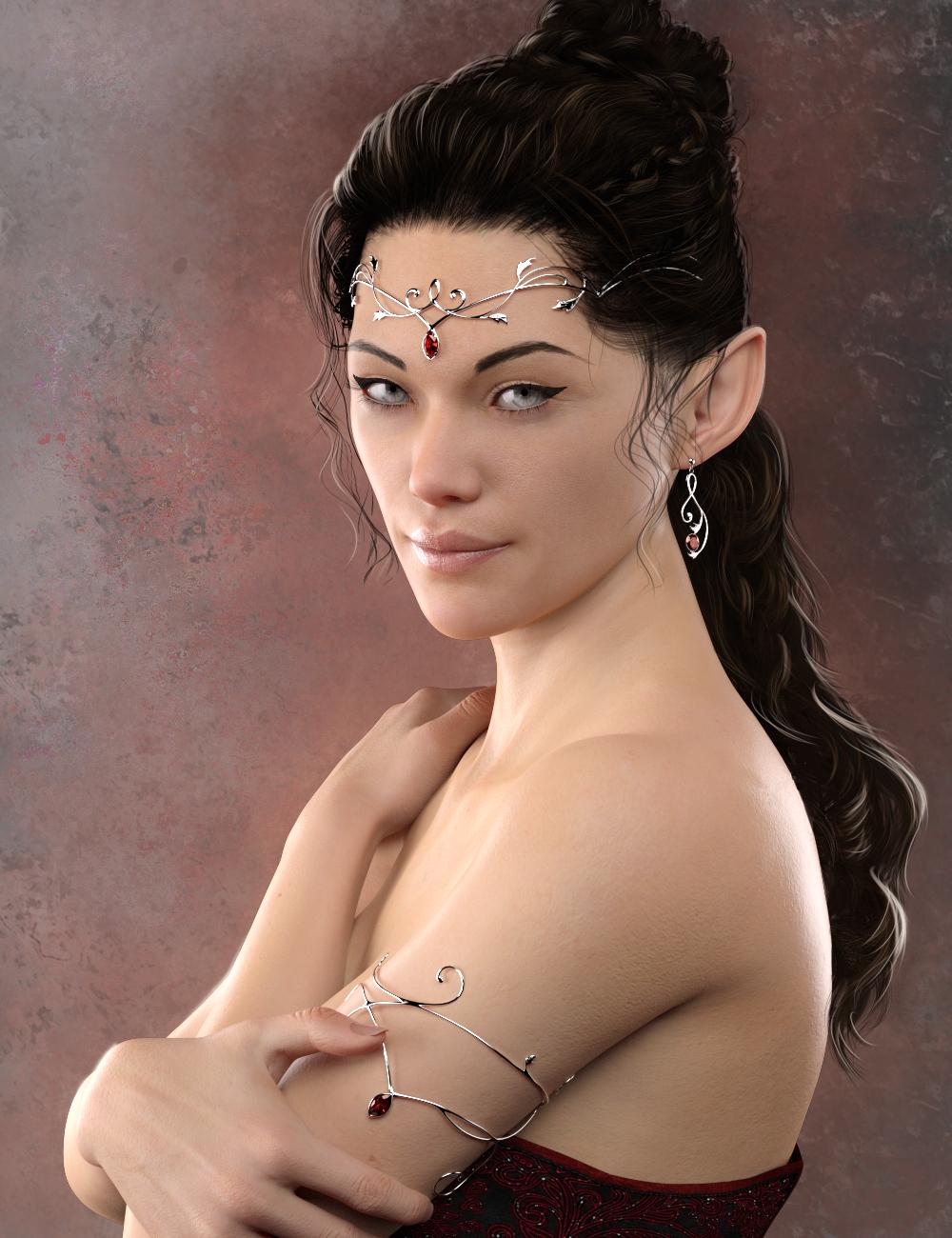 Elven Jewelry by: TMDesign, 3D Models by Daz 3D