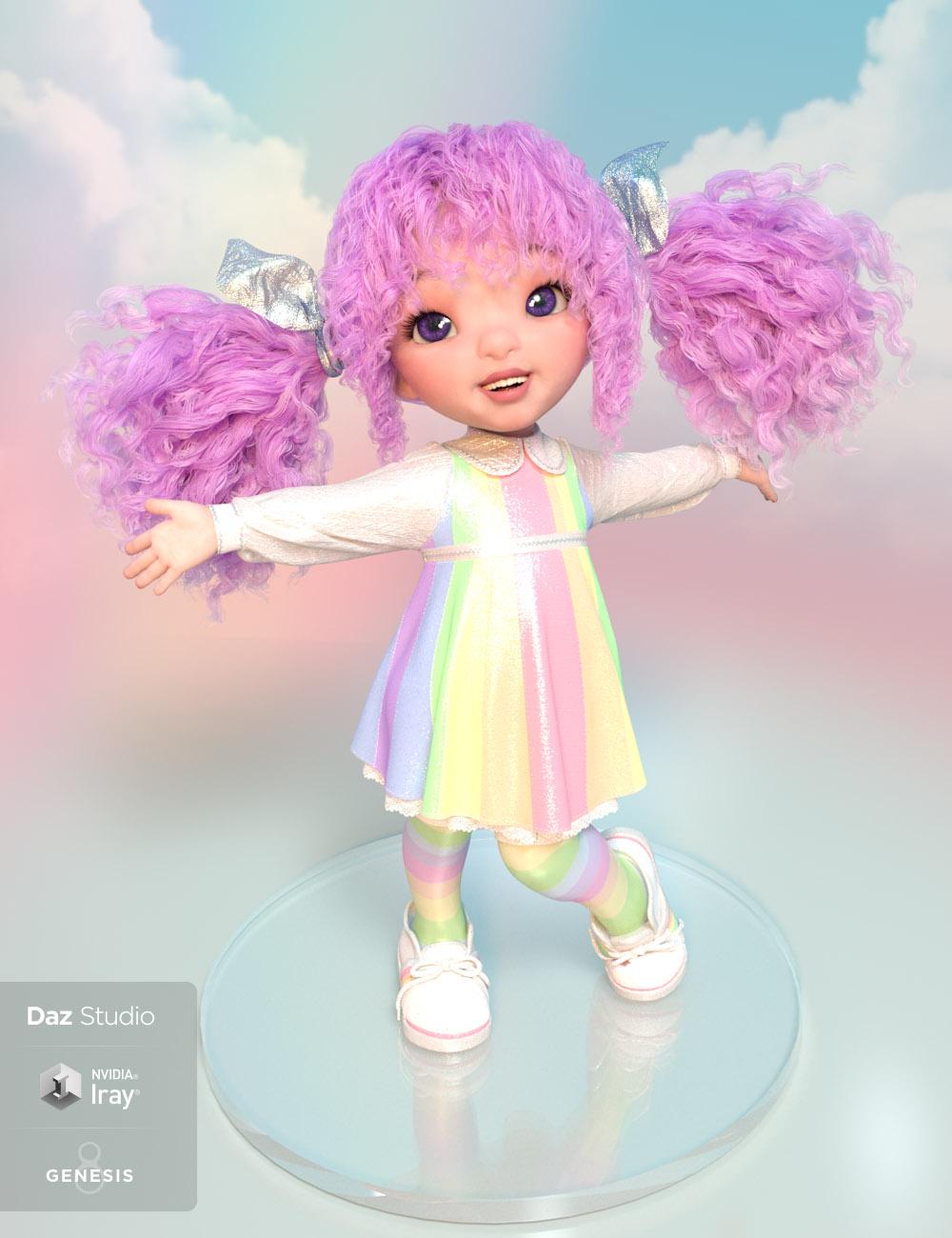 dForce Rainboo Dress for Genesis 8 Females by: Lady Littlefox, 3D Models by Daz 3D