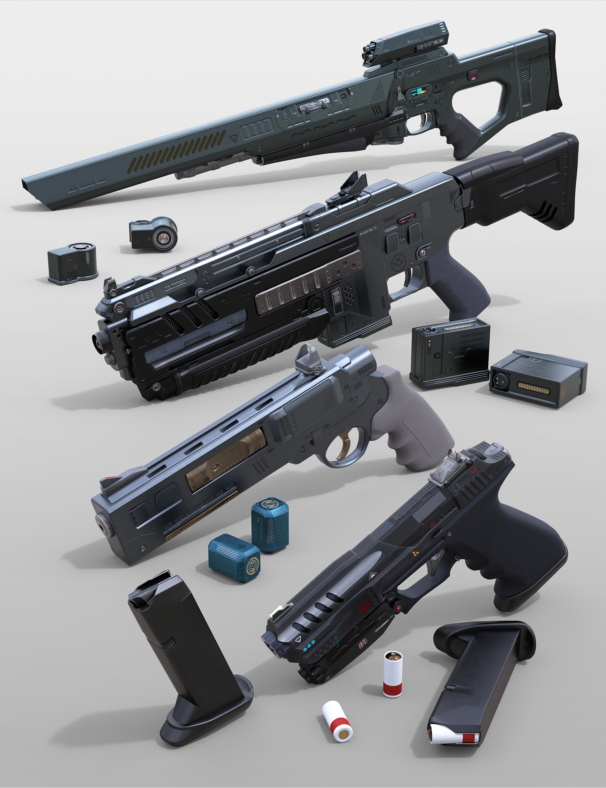 Sci-Fi Weapons Collection 3 by: Porsimo, 3D Models by Daz 3D