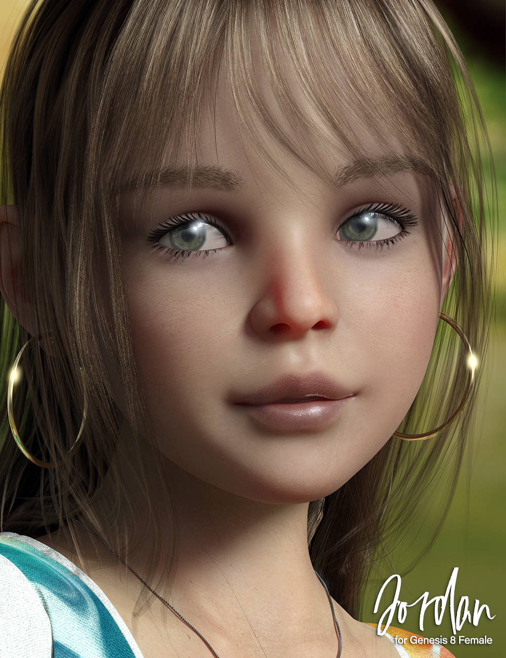 Jordan Hair for Genesis 8 Females by: 3D Universe, 3D Models by Daz 3D