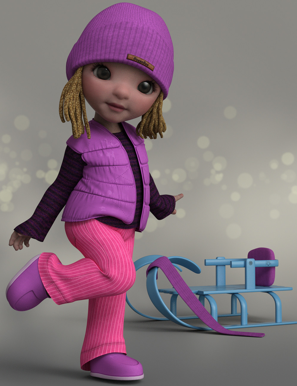 Pastells for Winter Outfit for BuggaBoo by: Karth, 3D Models by Daz 3D