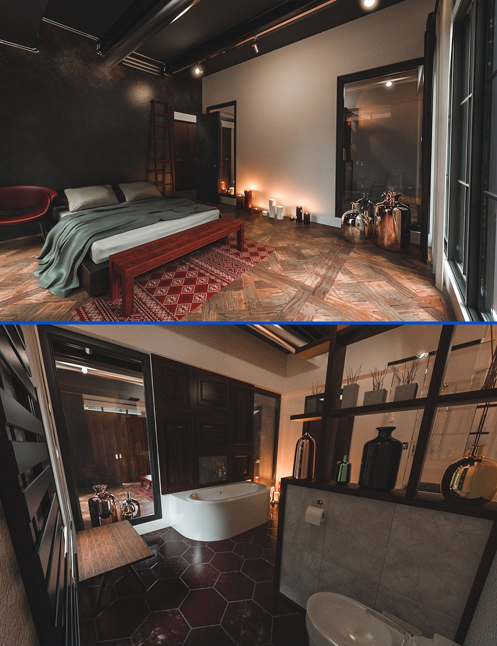 Timeless Bedroom by: bituka3d, 3D Models by Daz 3D