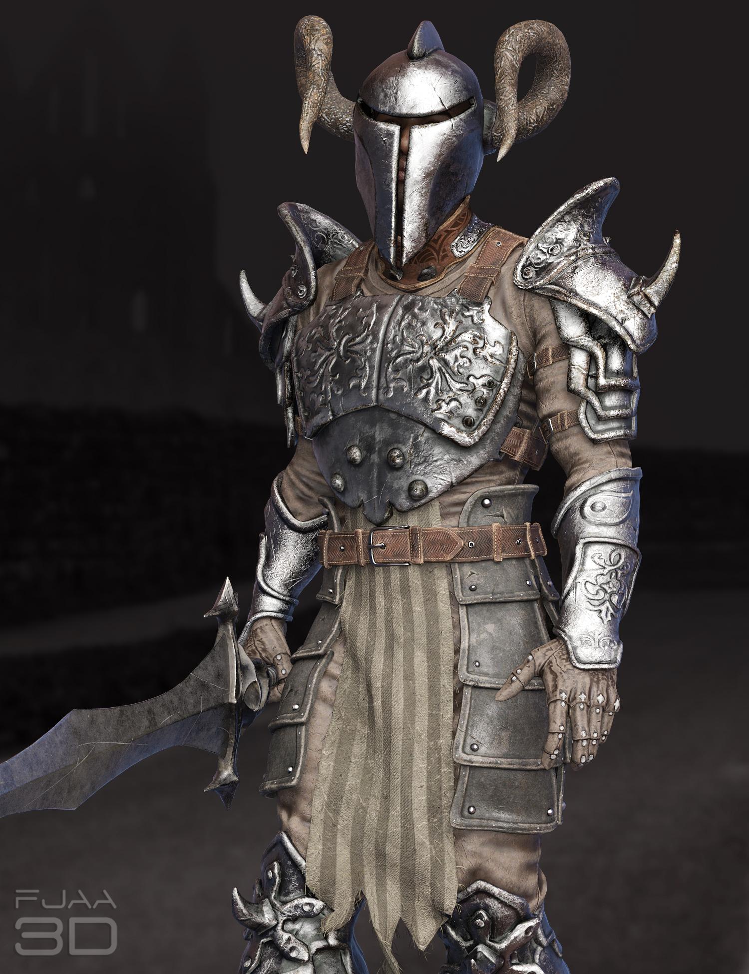 dForce Death Fighter Armor for Genesis 8 Males by: fjaa3d, 3D Models by Daz 3D