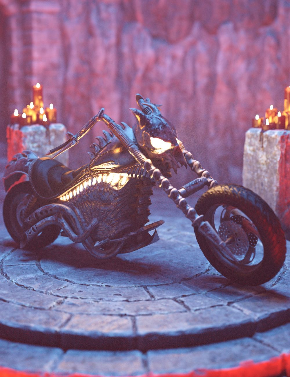 Hell Motorcycle by: Charlie, 3D Models by Daz 3D
